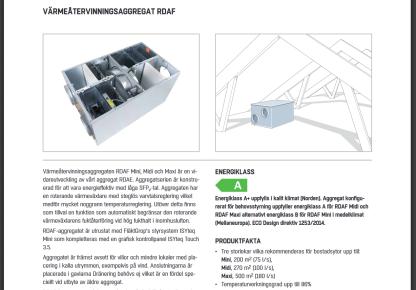 RDAF MINI FläktGroup Inkl all extra utrustning