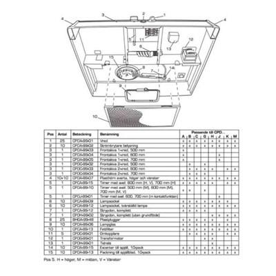 FRONTSKIVA 2-VRED 500 MM, CPDC-99-02, FläktGroup